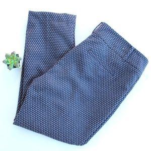 Ann Taylor Factory Purple Navy Pants Trousers 12